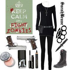"""Zombie Slayer"" by sarahbrave on Polyvore"