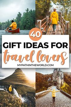 Looking for the best gift ideas for travel lovers? From fun travel-themed items to practical ones, here are 40+ travel gift ideas for any occasion!