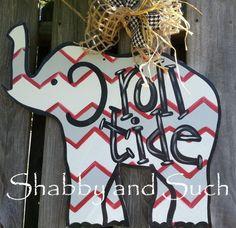 ROLL TIDE University of Alabama Elephant by shabbyandsuchdesigns, $40.00