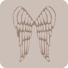 tatouage ailes d'anges poignet | Appliqué thermocollant ailes d'anges or