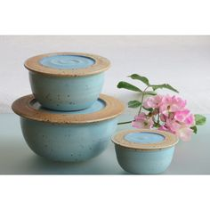 Kitchen storage jar ceramic jars pottery food container with lid Set... (€91) via Polyvore featuring home, kitchen & dining, food storage containers, ceramic jar, ceramic lidded jars, food jar and food container
