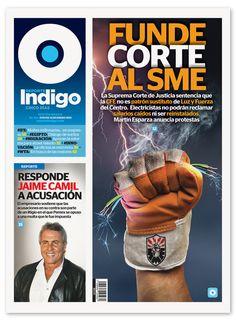 Reporte Indigo #198, Supreme Court Melts The Electricity Union, Artwork by Hugo Herrera, Cover Design by Memo Camacho