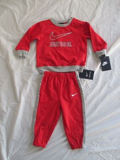 c5a54d7b9a77ee Nike Boys Suit Sweetsuit 2 Piece Set Style 66B408 Sizes Newborn-5T New with  Tags