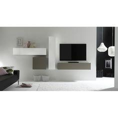 Design wandkast hoogglans Lemvig - Zwevende Tv-meubelen - Tv meubel   Zen Lifestyle