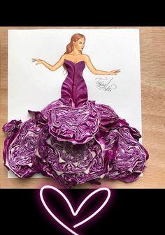 When #arts meet #fashion #food #creativearts #cabbage #dress #design
