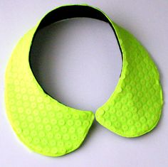 Neon Disco  Neon Yellow Sequin Peter Pan Collar / by lovesexton