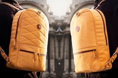Versatile, Two-sided leather backpack. #backpack #bag #YankoDesign