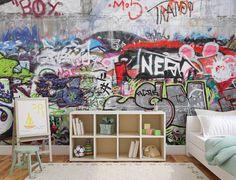 Zelfklevend fotobehang graffiti