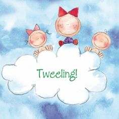 Tweelingkaartje zus wolk