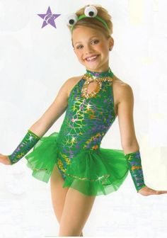 FEELIN FROGGY Frog w/Headpiece & Mitts Dance Costume Child XS & Adult M&L NEW #Cicci