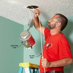 Fish Wires Through the Holes for Recessed Lights - 14 Tips for Fishing Electrical Wire Through Walls: http://www.familyhandyman.com/electrical/wiring/fishing-electrical-wire-through-walls
