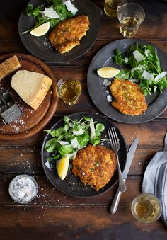 Ina Garten's Chicken Parmesan recipe with salad with lemon vinaigrette
