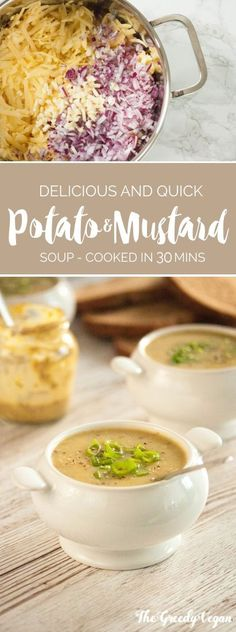 This hearty potato and mustard soup is easily made and needs very few ingredients, but you shouldn't underestimate it. Simple dishes can be delicious, and this one proves it.