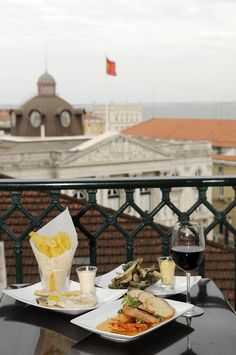 Great food and wine.. with a great view! @Máxima #Lisbon #Portugal