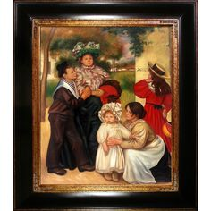 The Artist's Family, 1896 by Renoir Framed Painting Print on Canvas