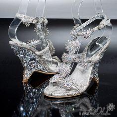 Handmade Leatherette Style Crystal Wedding ShoesWedding/ Party Shoes