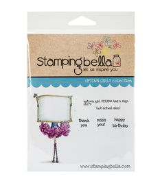 Stamping Bella Uptown Girl Serena Has A Sign Cling Rubber Stamp