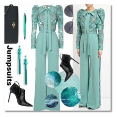 """Jumpsuits"" by ilona-828 ❤ liked on Polyvore featuring Elie Saab, Coach, BP., Yves Saint Laurent, jumpsuits, polyvoreeditorial and farfetch"