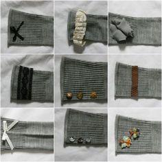 Aplicações na manga da blusinha