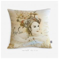Inner World Satin glossy luxurious artistic throw pillow cover - Modern pillow case - artistic cushion cover.