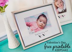 Baby Valentine's Day Printable Keepsake - simply print and add baby's fingerprint! #valentinesday #valentine #freeprintable