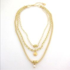Gorgeous 18k gold plated necklace Ultimately the most outrageously beautiful piece of jewelry. This is 18k gold plated with strong hardware and a beautiful pearl detail. Jessica Elliot  Jewelry Necklaces