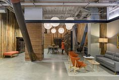 RMW Architecture & Interiors have designed the new Sunset magazine offices in Oakland, California. Sunset magazine has influenced West Coast Open Office Design, Open Space Office, Industrial Office Design, Western Office, Office Cube, Staff Lounge, Wooden Pergola, Mix Style, 3d Max