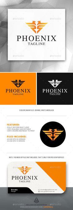 Phoenix Logo — Vector EPS #orange #fire • Available here → https://graphicriver.net/item/phoenix-logo/11964815?ref=pxcr