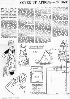 Several vintage apron patterns  (Choose a pattern and then I will make sure we have the reds in the fabric.)