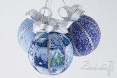 Подготовка к Новому году у меня началась давно, еще в октябре :) когда я получила долгожданную посылку с пенопластовыми шарами. И началось...