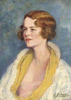 Ignacio Zuloaga - Retrato de una dama, la cabeza y los hombros