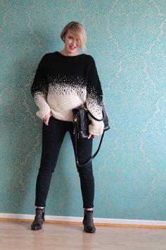 Schwarz/Weiß Look und rockige Stiefeletten
