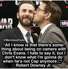 No one can replace these two as Ironman & Captain America! Im gonna miss them working together