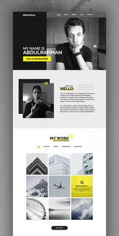 My Portfolio Website Portfolio Webdesign, Ui Portfolio, Mise En Page Portfolio, Ui Ux Designer Portfolio, Best Portfolio Websites, Branding Portfolio, Graphic Portfolio, Personal Portfolio, Portfolio Design Grafico