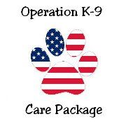 We provide care packages to US Military Working Dog (MWD) teams. ♥ Mission - It has come to our attention that the 3200+ patrol, drug and explosive detection canines serving our country in Iraq & Afghanistan, and elsewhere around the world, are in need of care packages (i.e toys, treats, etc.). While our soldiers receive care packages, many Military Working Dogs (MWD) do not. We'd like to change all that! Please join us in supporting our Military Working Dogs (MWDs)! THANK-YOU! ♥