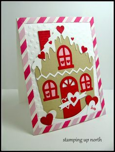 stamping up north: Valentine houses - Cute Cottage die from Poppy Stamps - how adorable is this!