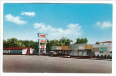 SUNSET LODGE, ABILENE, TEXAS VINTAGE POSTCARD C 1950'S West Texas, Texas Hill Country, Abilene Texas, Canyon Lake, Old West, Hostel, Worlds Largest, Mid-century Modern, 1950s
