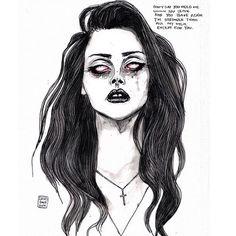 Lana Del Rey art by Lucas David