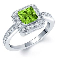 127 Ct Princess Green Peridot 925 Sterling Silver Ring -- Want additional info? Click on the image.