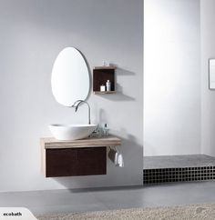 SOLID WOOD- Wall Hung Vanity 1000 mm with sit on top ceramic basin Model No. V-11049 Measurements: cabinet: 1000 wide * 500 deep * 513 High ceramic basin: 650 wide...
