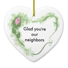 Neighbors Ceramic Ornament