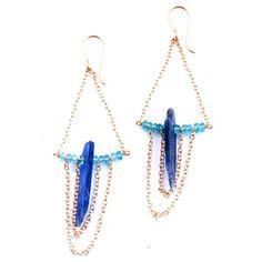Blue Kyanite Drape Earrings, $128, now featured on Fab.