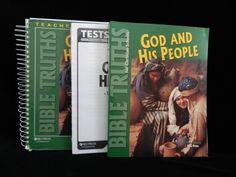 Bob Jones Bible Truths 4 Set w.T Ed God and His People Homeschool or School #TextbookBundleKit