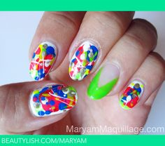 Splatter Nails- So colourful