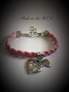 Awareness - together we can make a difference bracelet by QberryCreations on Etsy