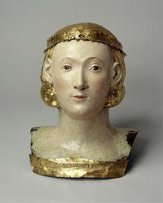 Angel Espionage: Giovanni di BartoloCopper - Reliquary Bust of Saint Juliana, ca. 1376
