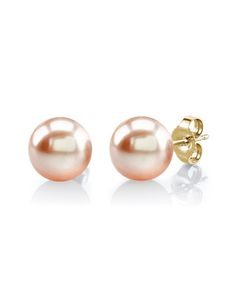 10mm Peach Freshwater Pearl Stud Earrings $199 (not including 20% promo)