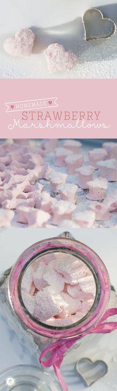 homemade strawberry marshmallows <3