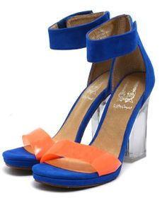 ROSE BUD(ローズバッド)の(JEFFREY CAMPBELL FOR ROSE BUD)HA:F 1357 SE THROUGH HEEL SANDAL(サンダル) ブルー
