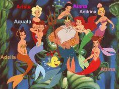Ariel's sisters